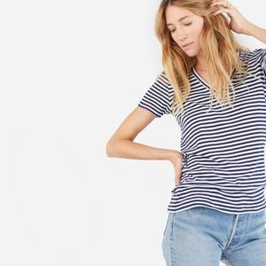 euc everlane striped v neck